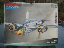 Vintage Monogram 1/48 B-25J Mitchell Gunship Air Apaches #5507