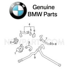 For BMW 2011 528i Pair Set of 2 Water Hoses Genuine 11537581872/11537581873