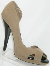 Penny Loves Kenny tan peep toe cross strap d'orsay platform heel 7.5M 4832