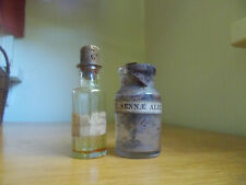 PAIR OF CRUDE 1860 CIVIL WAR ERA MEDICINE BOTTLES 1 PONTIL GOLDENROD 1 EXT.SENNA