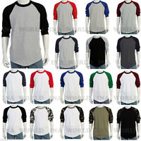 Plain Baseball  Raglan 3/4 Sleeve  Active Jersey Multi color T shirt