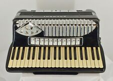 Vintage Soprani / Stresney Italian Made Accordion in Black - Nice Condition !!!