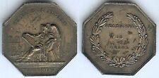Jeton - REIMS académie 6 décembre 1841 argent 17 gr poinçon corne d=34,5mm