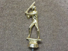 Vintage Baseball or Softball cast metal Trophy Topper, Male Batter 5 Inch, gold