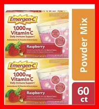 Emergen C Immune Plus  Raspberry 60 Packets Vitamin C And B Zinc