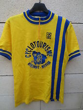 Maillot cycliste V.S NEVERS MORVAN vintage jaune made in France 70's camiseta L
