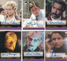 Star Trek Movies Heroes & Villains (2011): 2x Autograph CARDS selezione libera