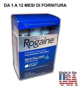 ROGAINE FOAM 5% MINOXIDIL TRATTAMENTO RICRESCITA DEI CAPELLI ORIGINALE AMERICANO
