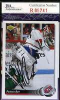 Patrick Roy Jsa Coa Autographed 1993 Upper Deck Authentic Hand Signed