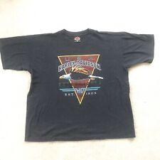 """New listing Harley Davidson T Shirt 1994 3D Emblem - Eagle Usa 1903 Design - """"West Coast"""""""