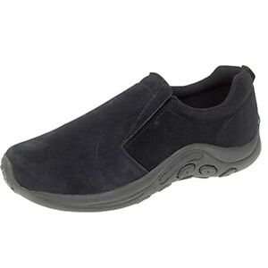 Mens PDQ Black Suede Slip-on Casual Jungle Moc Shoes Up To UK13
