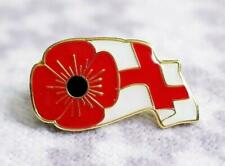 Red Poppy Lapel Pin badge England FLAG Remembrance Day UK 2020 London