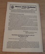 "ORIGINAL 1934 'SIERRA CLUB BULLETIN""~By-Laws~DIRECTOR Nominee-ANSEL ADAMS~"