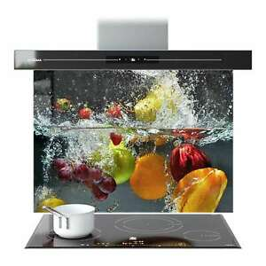 Splashback Kitchen Glass Cooker Printed ANY SIZE Fresh Fruits in The Water 0067