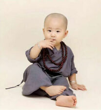 Kid Child Shaolin Buddhist Monk Robe Boy Meditation Uniform Kung fu Tai chi Suit
