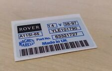 Classic Mini - MPI Rover Alternator Label/Sticker