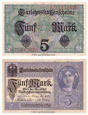 Germany 5 Mark 1917  P-56b Banknotes  UNC