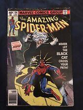 AMAZING SPIDER-MAN #194 (1979) KEY ISSUE: 1st Black Cat, Around FN- (5.5)