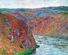 Valley of the Creuse Gray Day by Claude Monet A1+ High Quality Art Print