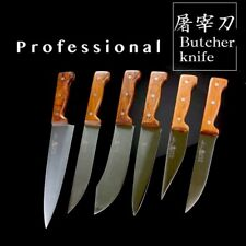 6PC Shaped Professional Butcher Knifes Purposed Processing Knife Collection Set