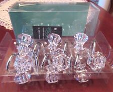 Set Of 12 Knob Faux Crystal Clear Acrylic Shower Hooks By Bino New