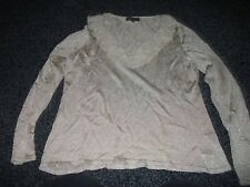 Ladies size 12 Gold jumper & cardigan two piece - Debenham's Classics collection