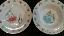 Border Fine Arts.Peter Rabbit bowl and plate.