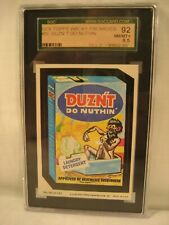 1979 TOPPS WACKY PACKAGES DUZN'T DO NUTHIN  SGC 8.5 GRADED