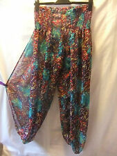 Chiffon Harem Loose Fit Trousers for Women