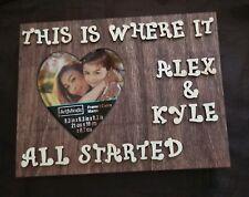Free Shipping Amazing Custom Couple Personalized Frame Wedding  Wooden Gift