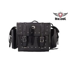Motorcycle Sissy Bar Bag With Studs & Gun Holster