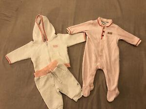 Baby Girl Hugo Boss Tracksuit And Sleepsuit Bundle Age 3months