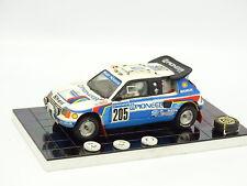 Starter Résine 1/43 - Peugeot 205 T16 N°205 Paris Dakar 1988  Intérieur détaillé