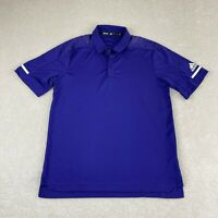 Adidas Climalite Golf Polo Shirt Mens Size M Purple Lightweight Activewear NEW