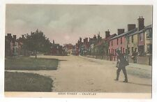 High Street in Crawley, West Sussex, England Vintage UK Postcard