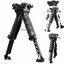 Tactical Hunting Swivel Bipod Foldable Foregrip 20mm Picatinny Rail For Rifle Y8