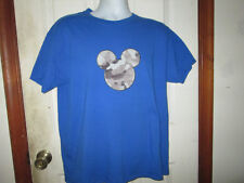 Mickey Mouse Camo Patch Disney T Shirt Sz Large