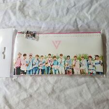 Seventeen Photo Pencil Case Cosmetic Pouch Make-up bag KPOP Star gift new