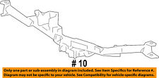 FORD OEM Rear Bumper-Reinforcement 4L3Z17D826BB