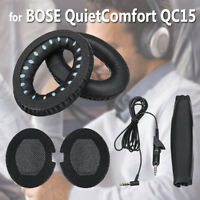 6Pcs For BOSE QuietComfort QC15 Replacement Ear Pads Audio Cable Headband Set