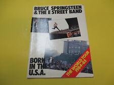 VINTAGE BRUCE SPRINGSTEEN - BORN IN THE USA WORLD TOUR PROGRAM BOOK PROGRAME