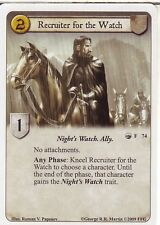 3 x Recruiter for the Watch AGoT LCG 1.0 Game of Thrones The Wildling Horde 74