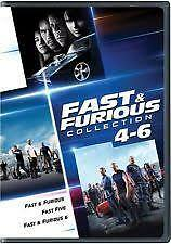 Fast & Furious Collection 4-6 3-Disc Set  3-Disc Set Region 4 DVD  Like New