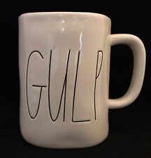 "PAIR of 2 Large Rae Dunn by Magenta ""Gulp"" Ceramic Coffee Tea Mug Cup SHIPS FREE"