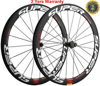 50mm Carbon Wheels Road Bicycle Cycle Clincher Wheelset 700C 23mm Width Shimano