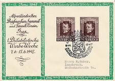 Sonder-Stempel 1947 Graz 1.Phil. Werbewoche auf 18+18 Gr. Ganzsachenbrief (B31)