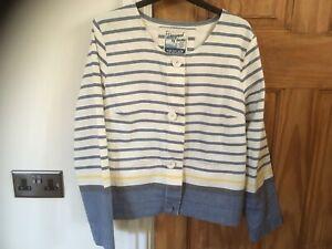 Seasalt Ladies Womens Summer Linen Cotton Jacket Size 12