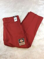 NWT Men's Dickies Pants Size 48x32 Orange Double Knee Multi-Use Pocket J-37