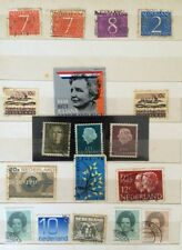 Lot of 18 Rare Old Netherlands Holland Postage Stamps