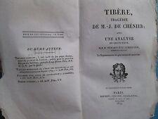 CHENIER : TIBERE tragédie avec analyse par Népomucène Lemercier, 1819.
